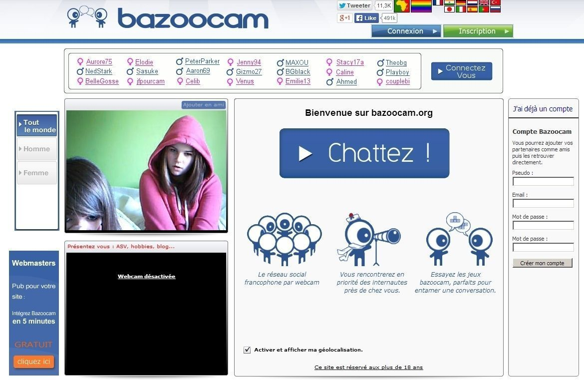 bazoocam chat